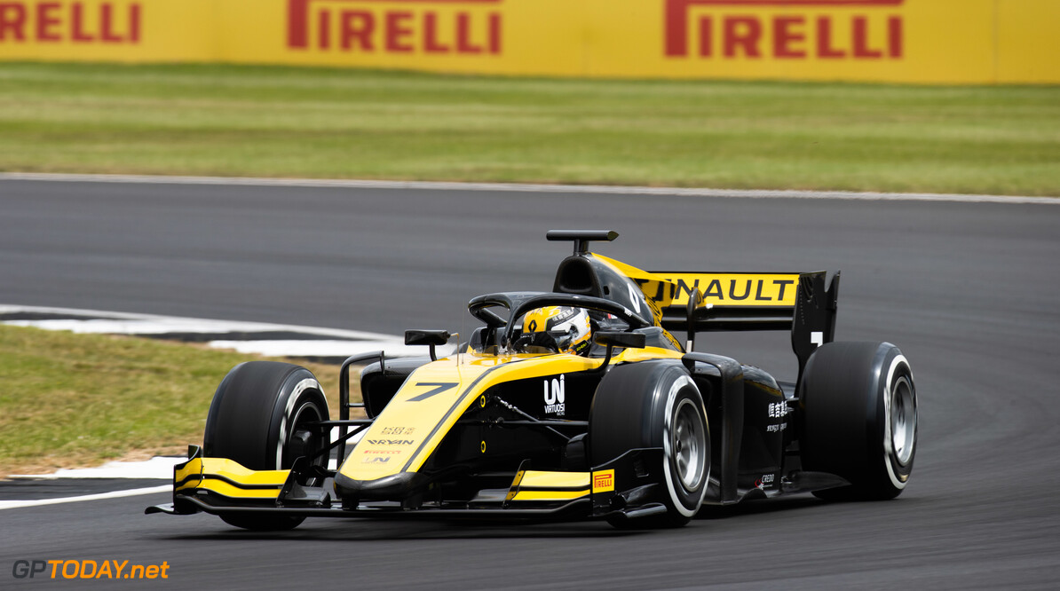 FIA Formula 2 SILVERSTONE, UNITED KINGDOM - JULY 12: Guanyu Zhou (CHN, UNI VIRTUOSI) during the Silverstone at Silverstone on July 12, 2019 in Silverstone, United Kingdom. (Photo by Joe Portlock / LAT Images / FIA F2 Championship) FIA Formula 2 Joe Portlock  United Kingdom  FIA Formula 2