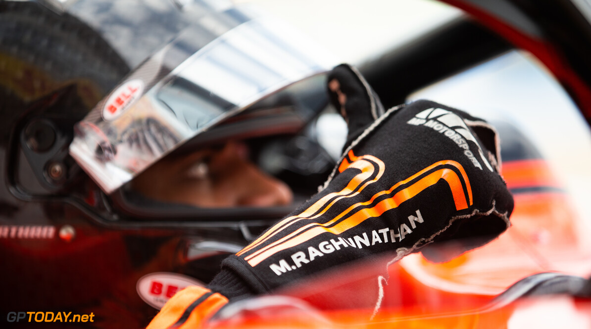 FIA Formula 2 SILVERSTONE, UNITED KINGDOM - JULY 12: Mahaveer Raghunathan (IND, MP MOTORSPORT) during the Silverstone at Silverstone on July 12, 2019 in Silverstone, United Kingdom. (Photo by Colin McMaster) FIA Formula 2 Colin McMaster  United Kingdom  Portrait