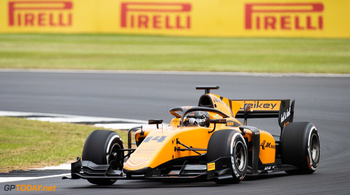 FIA Formula 2 SILVERSTONE, UNITED KINGDOM - JULY 12: Arjun Maini (IND, CAMPOS RACING) during the Silverstone at Silverstone on July 12, 2019 in Silverstone, United Kingdom. (Photo by Joe Portlock / LAT Images / FIA F2 Championship) FIA Formula 2 Joe Portlock  United Kingdom  FIA Formula 2