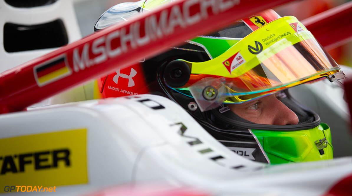 FIA Formula 2 SILVERSTONE, UNITED KINGDOM - JULY 12: Mick Schumacher (DEU, PREMA RACING) during the Silverstone at Silverstone on July 12, 2019 in Silverstone, United Kingdom. (Photo by Colin McMaster) FIA Formula 2 Colin McMaster  United Kingdom  Portrait