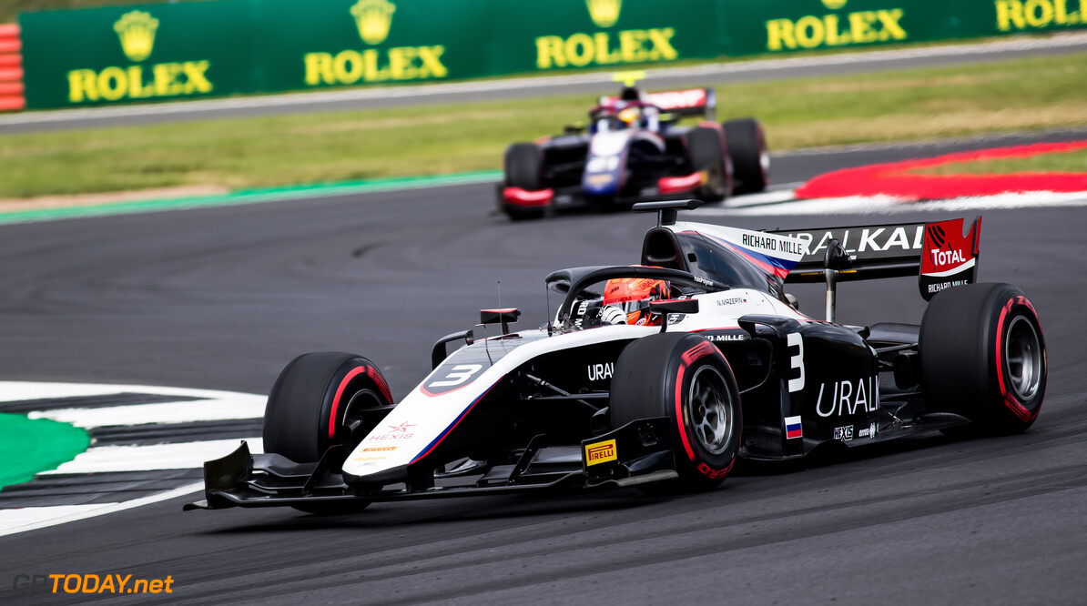 FIA Formula 2 SILVERSTONE, UNITED KINGDOM - JULY 12: Nikita Mazepin (RUS, ART Grand Prix) during the Silverstone at Silverstone on July 12, 2019 in Silverstone, United Kingdom. (Photo by Colin McMaster) FIA Formula 2 Colin McMaster  United Kingdom  Action