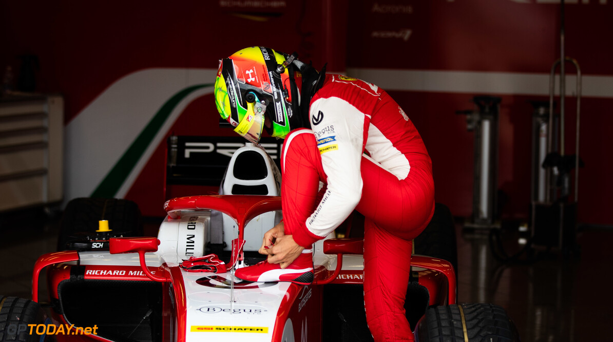 FIA Formula 2 SILVERSTONE, UNITED KINGDOM - JULY 12: Mick Schumacher (DEU, PREMA RACING) during the Silverstone at Silverstone on July 12, 2019 in Silverstone, United Kingdom. (Photo by Joe Portlock / LAT Images / FIA F2 Championship) FIA Formula 2 Joe Portlock  United Kingdom  FIA Formula 2