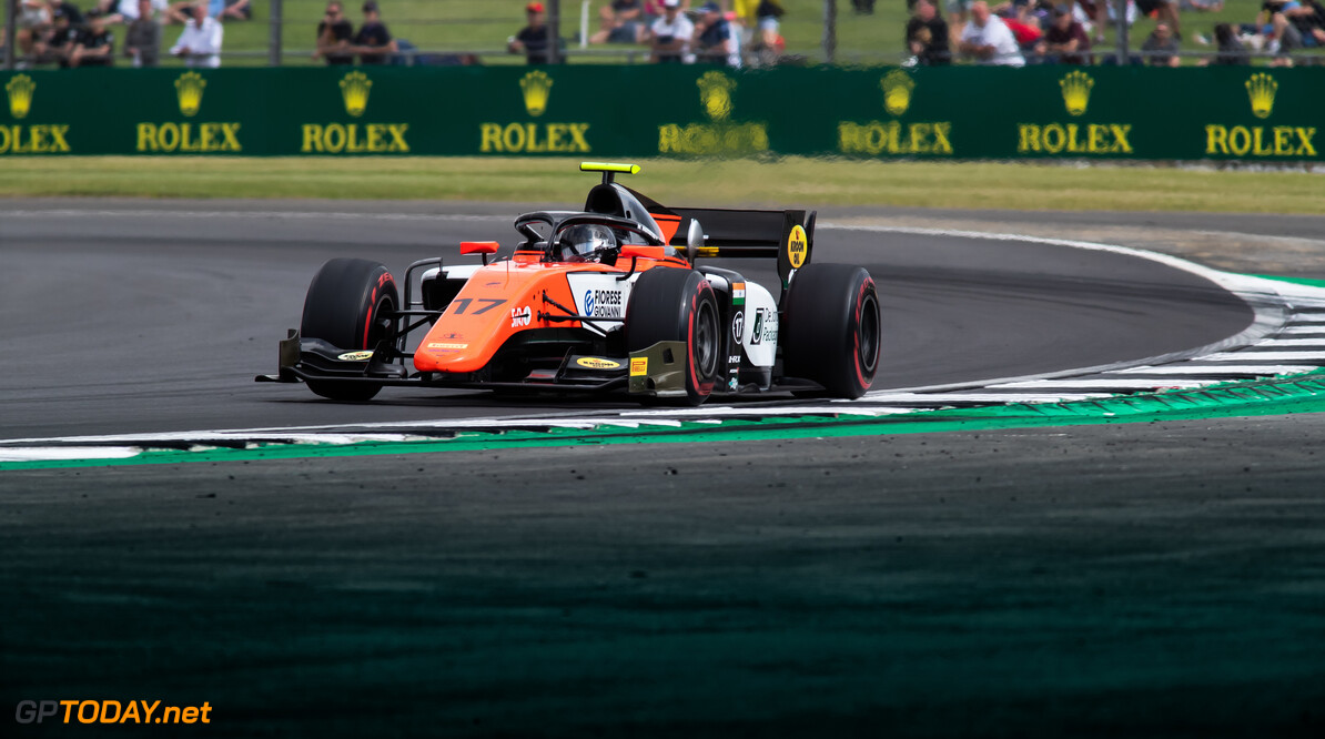 FIA Formula 2 SILVERSTONE, UNITED KINGDOM - JULY 12: Mahaveer Raghunathan (IND, MP MOTORSPORT) during the Silverstone at Silverstone on July 12, 2019 in Silverstone, United Kingdom. (Photo by Colin McMaster) FIA Formula 2 Colin McMaster  United Kingdom  Action