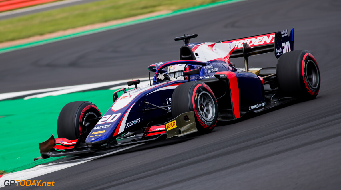 FIA Formula 2 SILVERSTONE, UNITED KINGDOM - JULY 12: Giuliano Alesi (FRA, TRIDENT) during the Silverstone at Silverstone on July 12, 2019 in Silverstone, United Kingdom. (Photo by Colin McMaster) FIA Formula 2 Colin McMaster  United Kingdom  Action
