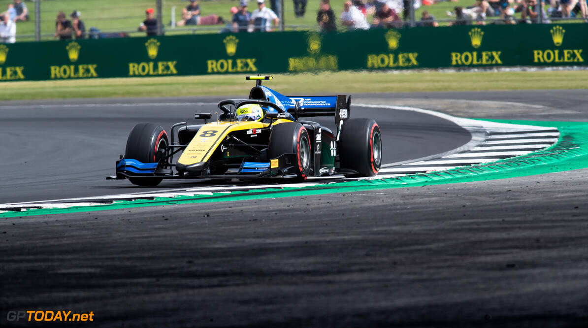 FIA Formula 2 SILVERSTONE, UNITED KINGDOM - JULY 12: Luca Ghiotto (ITA, UNI VIRTUOSI) during the Silverstone at Silverstone on July 12, 2019 in Silverstone, United Kingdom. (Photo by Colin McMaster) FIA Formula 2 Colin McMaster  United Kingdom  Action
