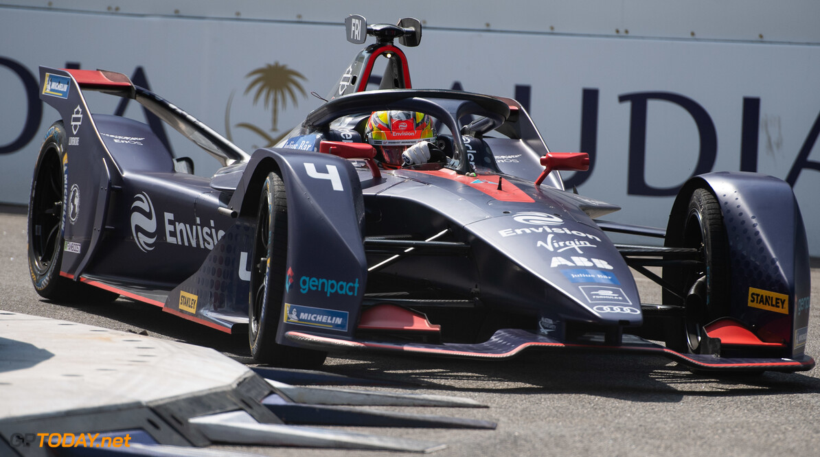 2019 New York City E-prix I BROOKLYN STREET CIRCUIT, UNITED STATES OF AMERICA - JULY 12: Robin Frijns (NLD), Envision Virgin Racing, Audi e-tron FE05 during the New York City E-prix I at Brooklyn Street Circuit on July 12, 2019 in Brooklyn Street Circuit, United States of America. (Photo by Simon Galloway / LAT Images) 2019 New York City E-prix I Simon Galloway  United States of America  action electric FE open wheel