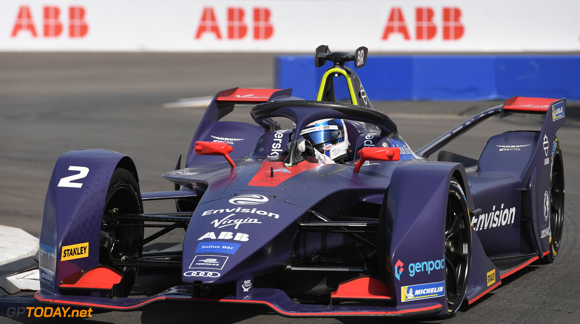 2019 New York City E-prix I BROOKLYN STREET CIRCUIT, UNITED STATES OF AMERICA - JULY 12: Sam Bird (GBR), Envision Virgin Racing, Audi e-tron FE05 during the New York City E-prix I at Brooklyn Street Circuit on July 12, 2019 in Brooklyn Street Circuit, United States of America. (Photo by Sam Bagnall / LAT Images) 2019 New York City E-prix I Sam Bagnall New York United States of America  action electric FE open wheel