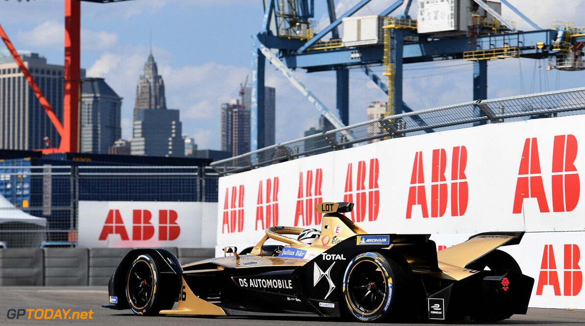 2019 New York City E-prix I BROOKLYN STREET CIRCUIT, UNITED STATES OF AMERICA - JULY 12: Andre Lotterer (DEU), DS TECHEETAH, DS E-Tense FE19 during the New York City E-prix I at Brooklyn Street Circuit on July 12, 2019 in Brooklyn Street Circuit, United States of America. (Photo by Sam Bagnall / LAT Images) 2019 New York City E-prix I Sam Bagnall New York United States of America  action rear electric FE open wheel