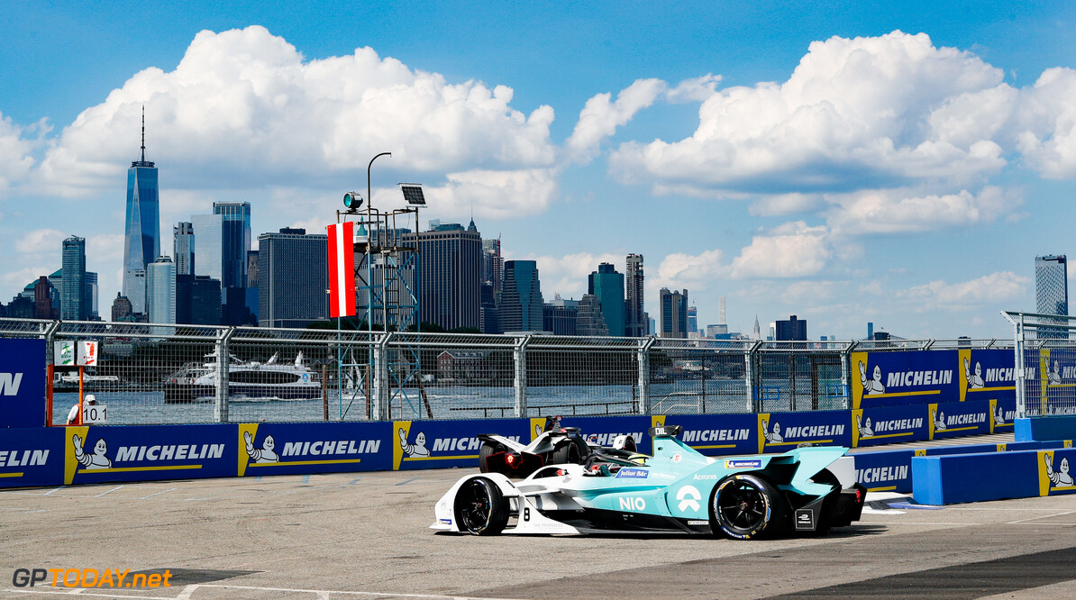 2019 New York City E-prix I BROOKLYN STREET CIRCUIT, UNITED STATES OF AMERICA - JULY 12: Tom Dillmann (FRA), NIO Formula E, NIO Sport 004 during the New York City E-prix I at Brooklyn Street Circuit on July 12, 2019 in Brooklyn Street Circuit, United States of America. (Photo by Steven Tee / LAT Images) 2019 New York City E-prix I Steven Tee  United States of America  action electric FE open wheel