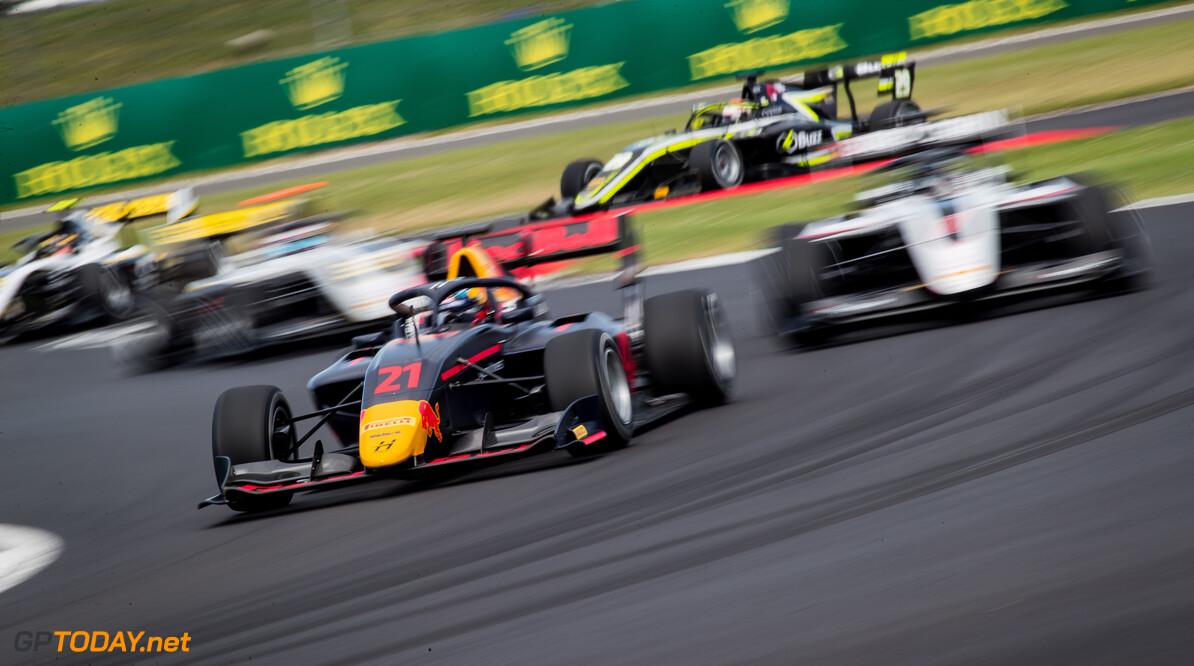 FIA Formula 3 SILVERSTONE, UNITED KINGDOM - JULY 12: Juri Vips (EST, Hitech Grand Prix) during the Silverstone at Silverstone on July 12, 2019 in Silverstone, United Kingdom. (Photo by Colin McMaster) FIA Formula 3 Colin McMaster  United Kingdom  Action F3 Formula 3 FIA F3