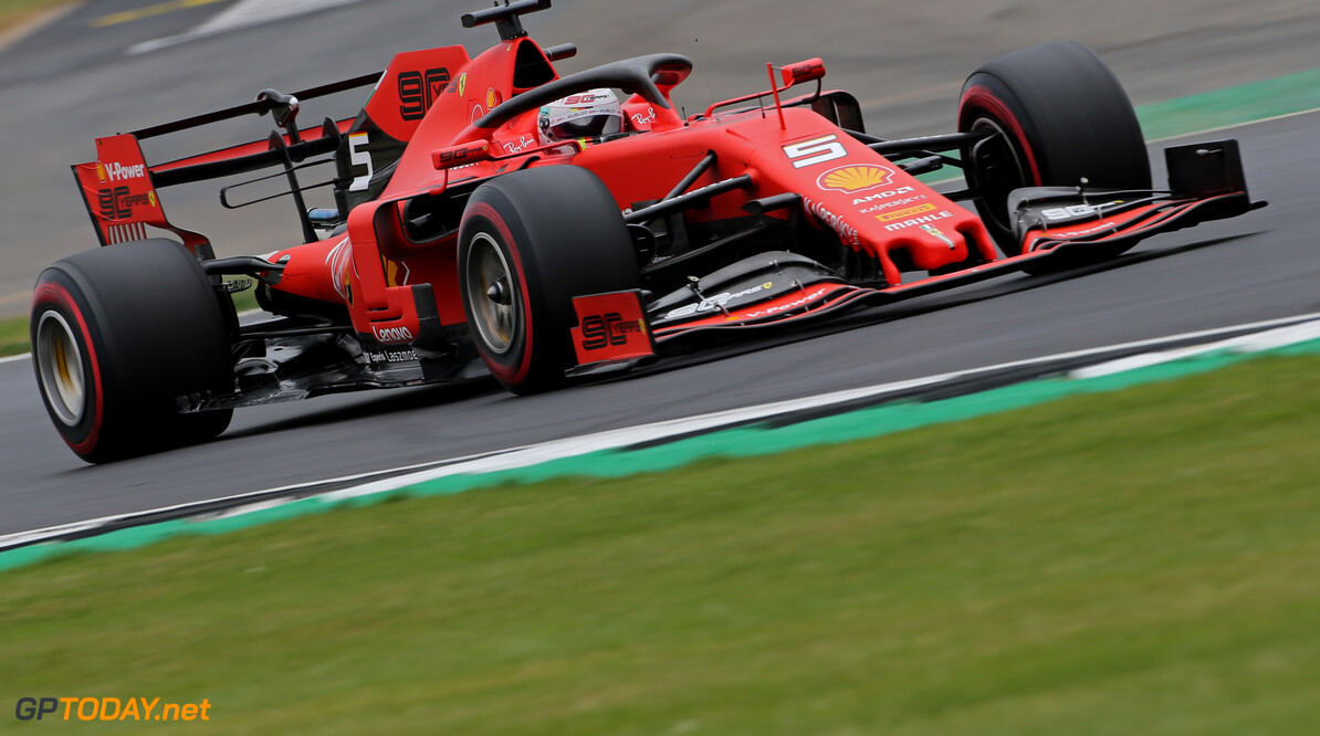 Formula One World Championship Sebastian Vettel (GER), Scuderia Ferrari  13.07.2019. Formula 1 World Championship, Rd 10, British Grand Prix, Silverstone, England, Qualifying Day. - www.xpbimages.com, EMail: requests@xpbimages.com - copy of publication required for printed pictures. Every used picture is fee-liable. (C) Copyright: Charniaux / XPB Images Motor Racing - Formula One World Championship - British Grand Prix - Qualifying Day - Silverstone, England XPB Images Silverstone England  Formel1 Formel F1 Formula 1 Formula1 GP Grand Prix one Circuit Silverstone England Britain British United Kingdom UK Saturday 13 07 7 2019 Qualifying Action Track