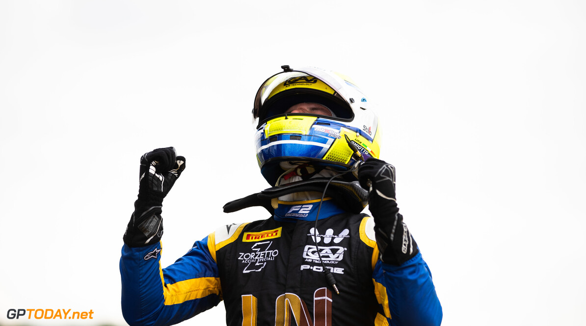 FIA Formula 2 SILVERSTONE, UNITED KINGDOM - JULY 13: Luca Ghiotto (ITA, UNI VIRTUOSI) during the Silverstone at Silverstone on July 13, 2019 in Silverstone, United Kingdom. (Photo by Joe Portlock / LAT Images / FIA F2 Championship) FIA Formula 2 Joe Portlock  United Kingdom  FIA Formula 2