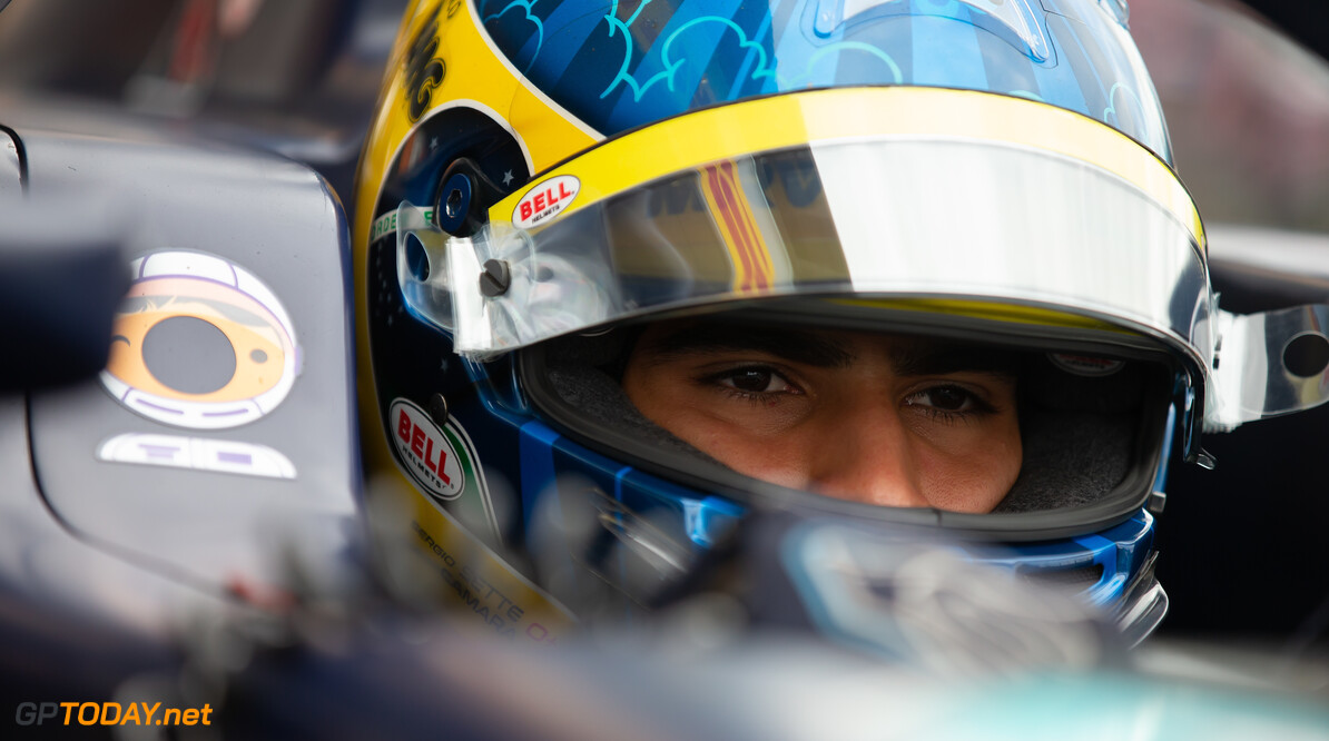 FIA Formula 2 SILVERSTONE, UNITED KINGDOM - JULY 13: Sergio Sette Camara (BRA, DAMS) during the Silverstone at Silverstone on July 13, 2019 in Silverstone, United Kingdom. (Photo by Colin McMaster) FIA Formula 2 Colin McMaster  United Kingdom  Portrait