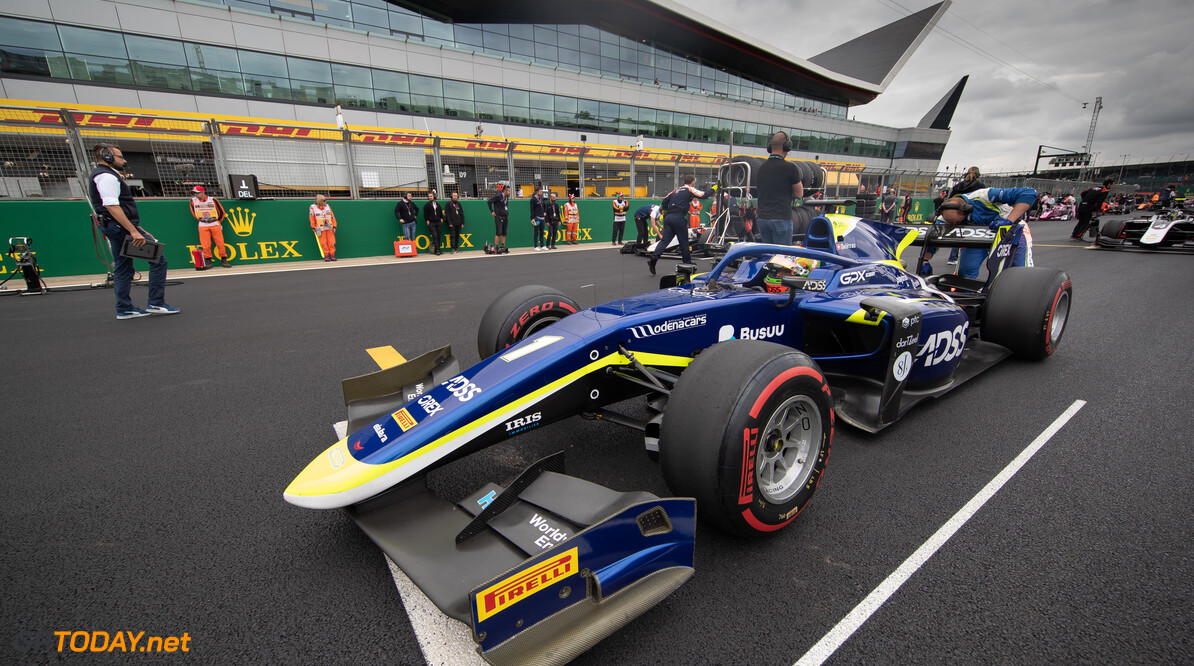 FIA Formula 2 SILVERSTONE, UNITED KINGDOM - JULY 13: Louis Deletraz (CHE, CARLIN) during the Silverstone at Silverstone on July 13, 2019 in Silverstone, United Kingdom. (Photo by Colin McMaster) FIA Formula 2 Colin McMaster  United Kingdom  Grid atmosphere