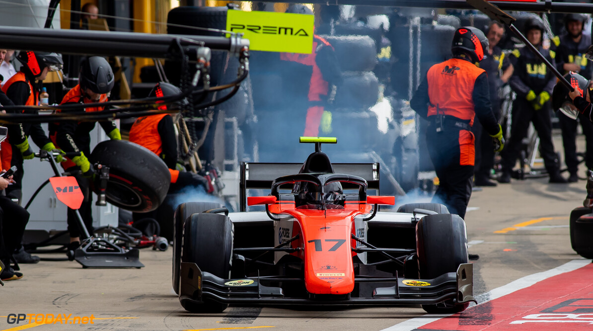 FIA Formula 2 SILVERSTONE, UNITED KINGDOM - JULY 13: Mahaveer Raghunathan (IND, MP MOTORSPORT) during the Silverstone at Silverstone on July 13, 2019 in Silverstone, United Kingdom. (Photo by Colin McMaster) FIA Formula 2 Colin McMaster  United Kingdom  Pitstop