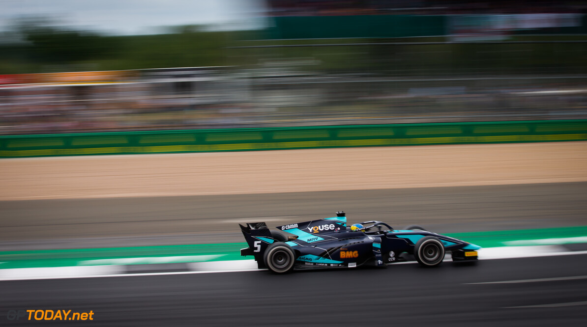 FIA Formula 2 SILVERSTONE, UNITED KINGDOM - JULY 13: Sergio Sette Camara (BRA, DAMS) during the Silverstone at Silverstone on July 13, 2019 in Silverstone, United Kingdom. (Photo by Colin McMaster) FIA Formula 2 Colin McMaster  United Kingdom  Action