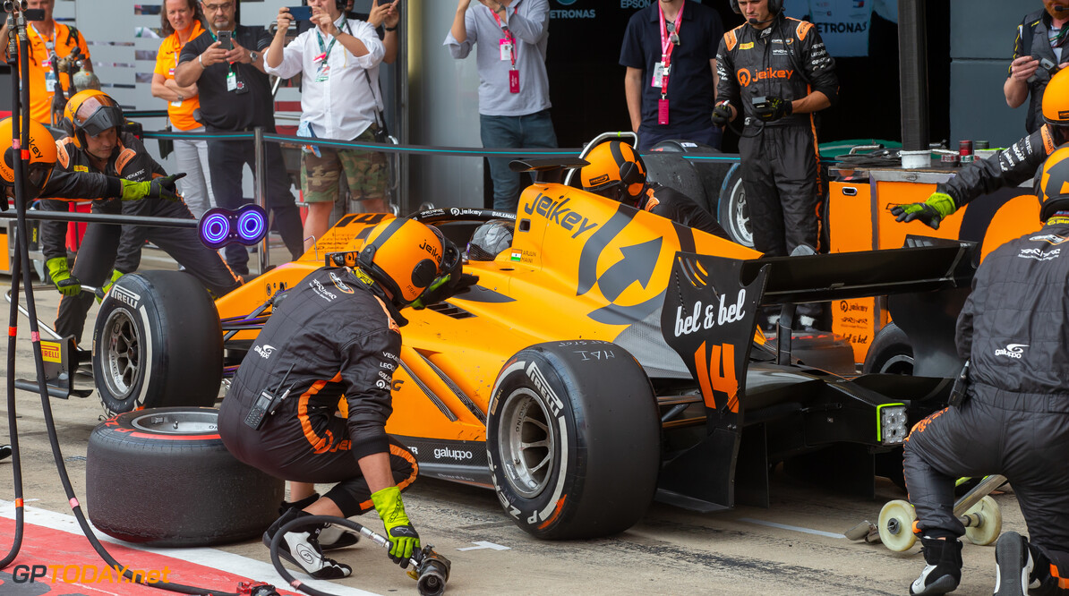 FIA Formula 2 SILVERSTONE, UNITED KINGDOM - JULY 13: Arjun Maini (IND, CAMPOS RACING) during the Silverstone at Silverstone on July 13, 2019 in Silverstone, United Kingdom. (Photo by Colin McMaster) FIA Formula 2 Colin McMaster  United Kingdom  Pitstop
