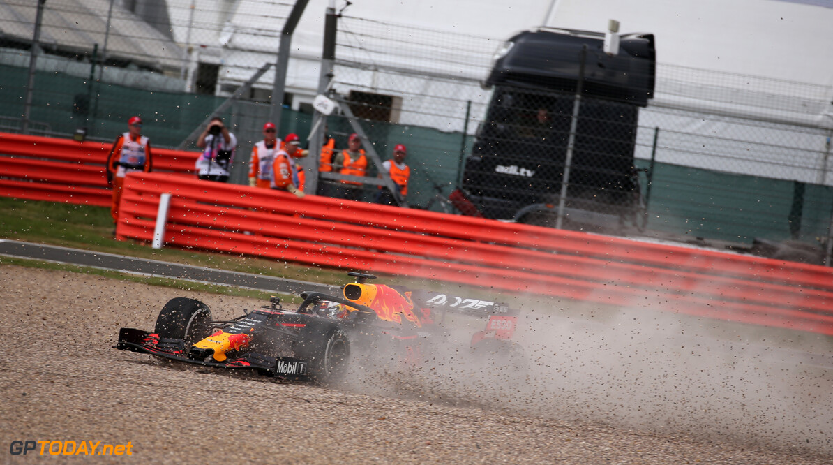 Formula One World Championship Sebastian Vettel (GER) Ferrari SF90 crashes into the back of Max Verstappen (NLD) Red Bull Racing RB15. 14.07.2019. Formula 1 World Championship, Rd 10, British Grand Prix, Silverstone, England, Race Day. - www.xpbimages.com, EMail: requests@xpbimages.com - copy of publication required for printed pictures. Every used picture is fee-liable. (C) Copyright: Batchelor / XPB Images Motor Racing - Formula One World Championship - British Grand Prix - Race Day - Silverstone, England XPB Images Silverstone England  Formel1 Formel F1 Formula 1 Formula1 GP Grand Prix one Circuit Silverstone England Britain British United Kingdom UK Sunday 14 07 7 2019 Race Action Track