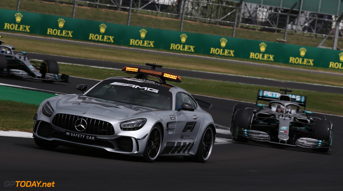 Formula One World Championship The Safety car. 14.07.2019. Formula 1 World Championship, Rd 10, British Grand Prix, Silverstone, England, Race Day. - www.xpbimages.com, EMail: requests@xpbimages.com - copy of publication required for printed pictures. Every used picture is fee-liable. (C) Copyright: Batchelor / XPB Images Motor Racing - Formula One World Championship - British Grand Prix - Race Day - Silverstone, England XPB Images Silverstone England  Formel1 Formel F1 Formula 1 Formula1 GP Grand Prix one Circuit Silverstone England Britain British United Kingdom UK Sunday 14 07 7 2019 Race Action Track