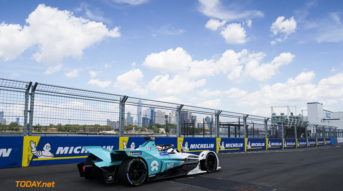 2019 New York City E-prix II BROOKLYN STREET CIRCUIT, UNITED STATES OF AMERICA - JULY 14: Oliver Turvey (GBR), NIO Formula E, NIO Sport 004 during the New York City E-prix II at Brooklyn Street Circuit on July 14, 2019 in Brooklyn Street Circuit, United States of America. (Photo by LAT Images) 2019 New York City E-prix II Dan Bathie  United States of America  action rear electric FE open wheel