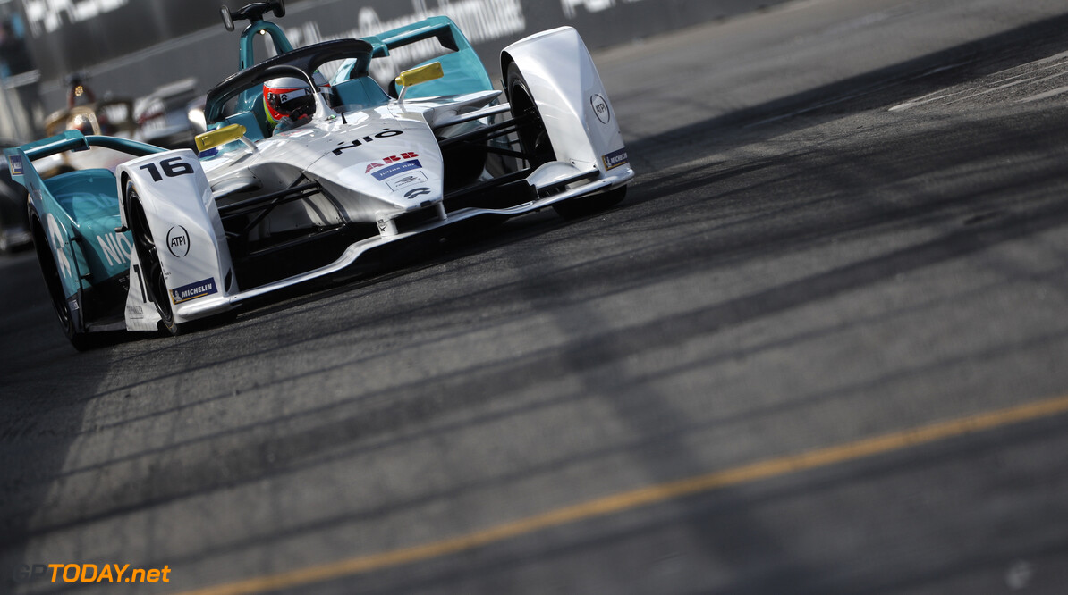 2019 New York City E-prix II BROOKLYN STREET CIRCUIT, UNITED STATES OF AMERICA - JULY 14: Oliver Turvey (GBR), NIO Formula E, NIO Sport 004 during the New York City E-prix II at Brooklyn Street Circuit on July 14, 2019 in Brooklyn Street Circuit, United States of America. (Photo by Sam Bloxham / LAT Images) 2019 New York City E-prix II Sam Bloxham  United States of America  action ts-live electric FE open wheel