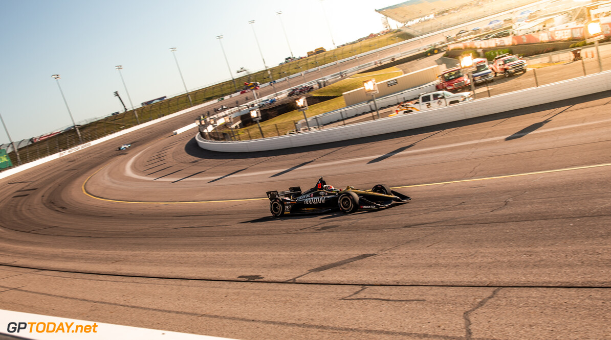 Friday night practice for the INDYCAR Iowa 300 at Iowa Speedway.  Stephen King Newton United States of America  2019 INDYCAR Iowa300 NTT