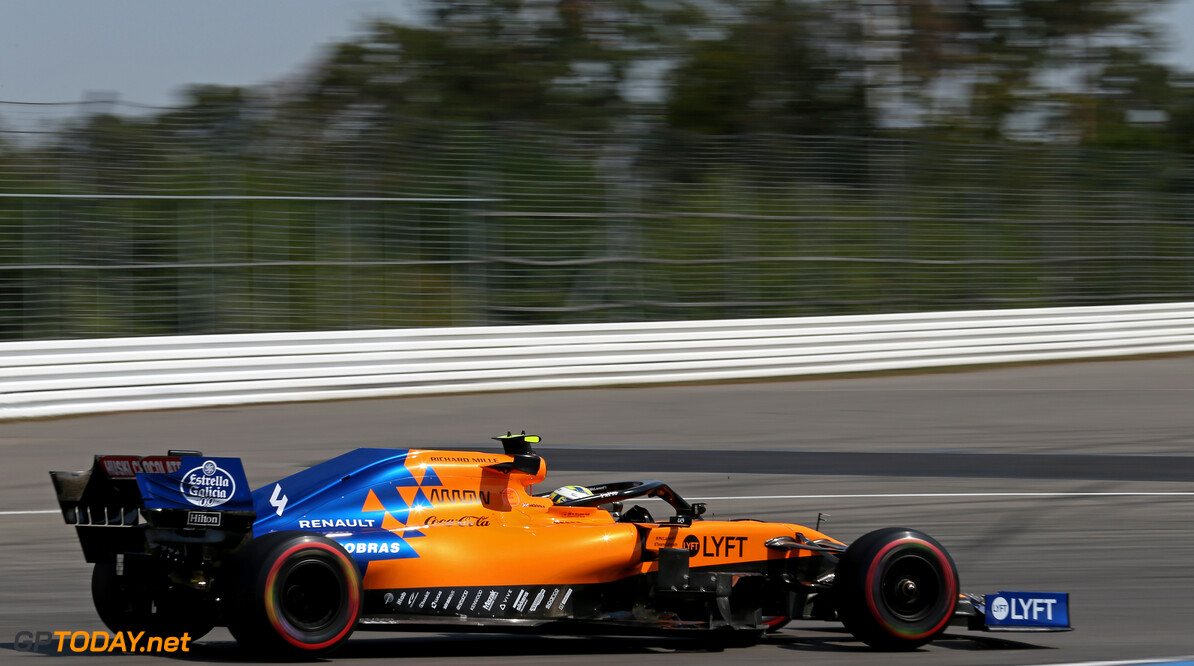 Formula One World Championship Lando Norris (GBR), McLaren F1 Team  26.07.2019. Formula 1 World Championship, Rd 11, German Grand Prix, Hockenheim, Germany, Practice Day. - www.xpbimages.com, EMail: requests@xpbimages.com - copy of publication required for printed pictures. Every used picture is fee-liable. (C) Copyright: Charniaux / XPB Images Motor Racing - Formula One World Championship - German Grand Prix - Practice Day - Hockenheim, Germany XPB Images Hockenheim Germany  Formel1 Formel F1 Formula 1 Formula1 GP Grand Prix one Circuit July German Germany Hockenheim Hockenheimring Friday 26 07 7 2019 Action Track