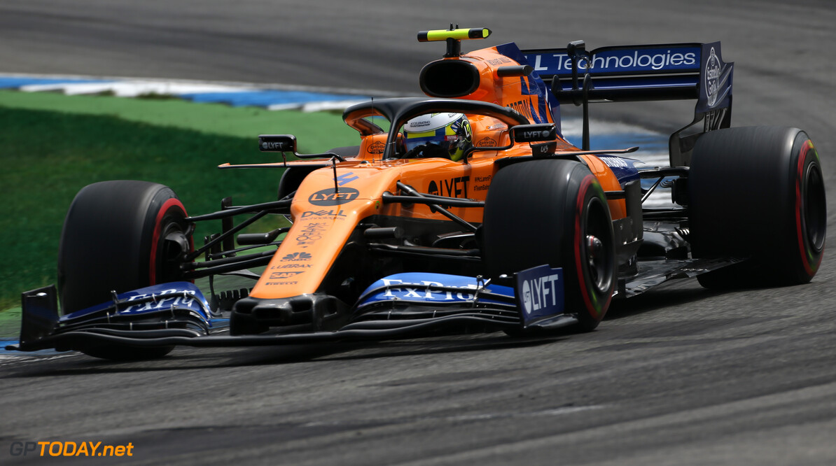 Formula One World Championship Lando Norris (GBR), McLaren F1 Team  27.07.2019. Formula 1 World Championship, Rd 11, German Grand Prix, Hockenheim, Germany, Qualifying Day. - www.xpbimages.com, EMail: requests@xpbimages.com - copy of publication required for printed pictures. Every used picture is fee-liable. (C) Copyright: Charniaux / XPB Images Motor Racing - Formula One World Championship - German Grand Prix - Qualifying Day - Hockenheim, Germany XPB Images Hockenheim Germany  Formel1 Formel F1 Formula 1 Formula1 GP Grand Prix one Circuit July German Germany Hockenheim Hockenheimring Saturday 27 07 7 2019 Practice Action Track
