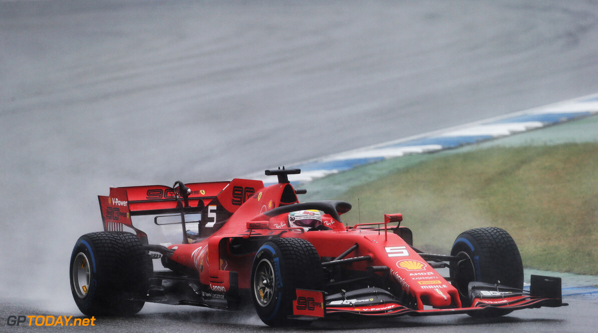 Vettel keek naar toeschouwers als indicatie voor welke banden nodig waren