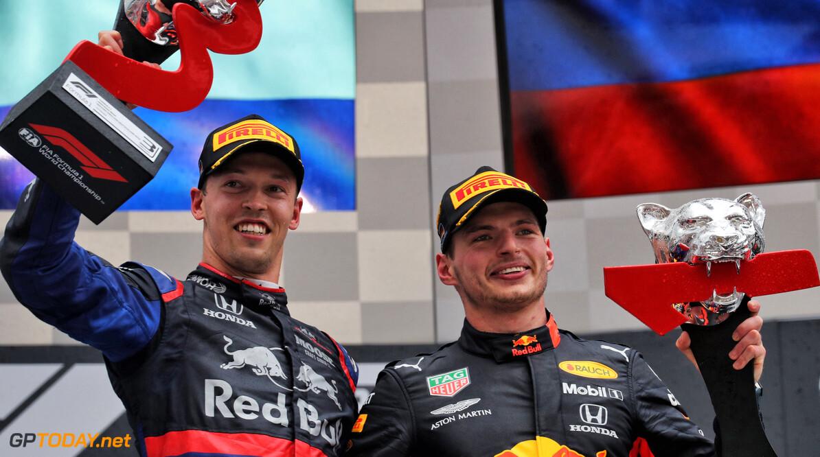 """Honda: """"Deze zege van Verstappen nog specialer door podiumplaats Kvyat"""""""