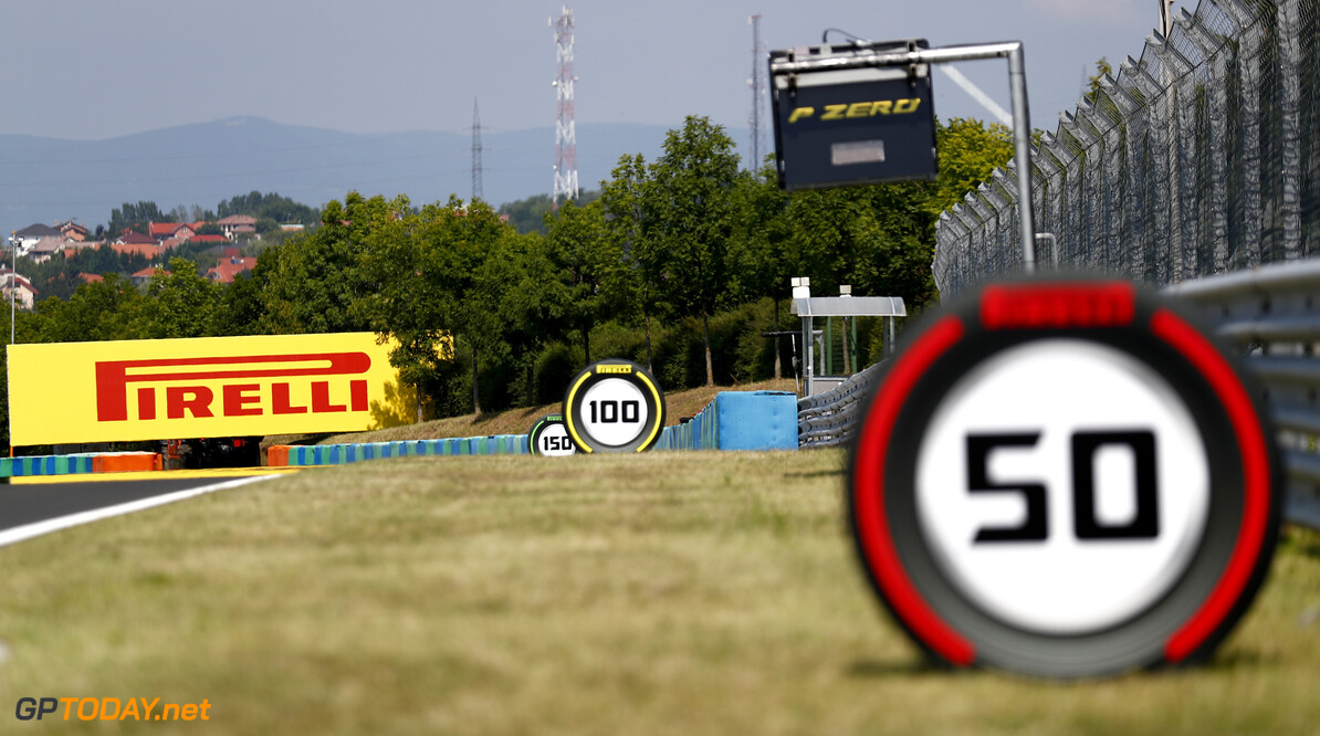 2019 Hungarian GP HUNGARORING, HUNGARY - AUGUST 01: Pirelli Branding during the Hungarian GP at Hungaroring on August 01, 2019 in Hungaroring, Hungary. (Photo by Sam Bloxham / LAT Images) 2019 Hungarian GP Sam Bloxham  Hungary  Hungarian GP atmosphere