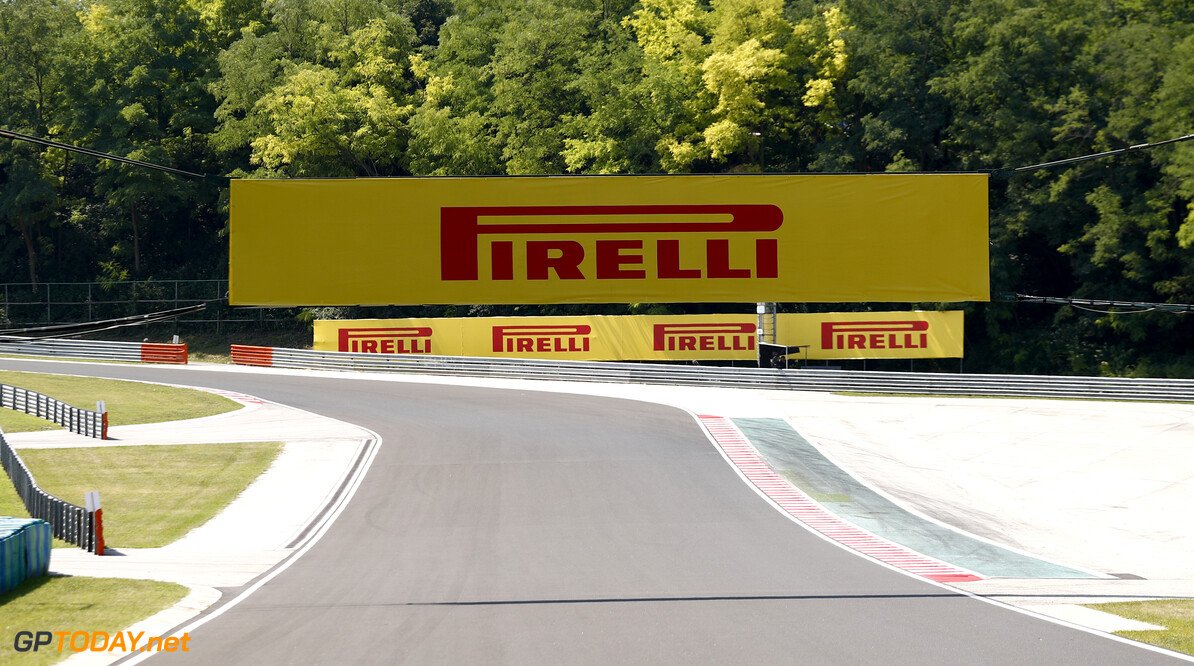 2019 Hungarian GP HUNGARORING, HUNGARY - AUGUST 01: Pirelli Branding during the Hungarian GP at Hungaroring on August 01, 2019 in Hungaroring, Hungary. (Photo by Sam Bloxham / LAT Images) 2019 Hungarian GP Sam Bloxham  Hungary