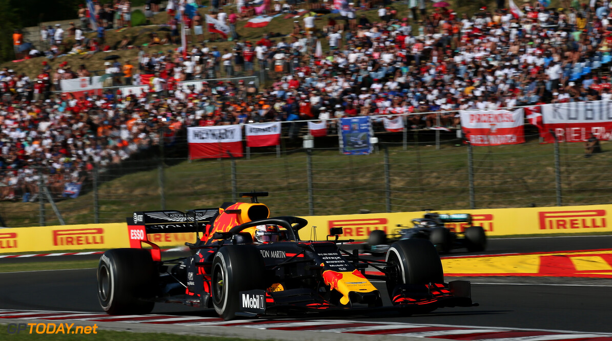 Formula One World Championship Max Verstappen (NLD) Red Bull Racing RB15. 04.08.2019. Formula 1 World Championship, Rd 12, Hungarian Grand Prix, Budapest, Hungary, Race Day. - www.xpbimages.com, EMail: requests@xpbimages.com - copy of publication required for printed pictures. Every used picture is fee-liable. (C) Copyright: Batchelor / XPB Images Motor Racing - Formula One World Championship - Hungarian Grand Prix - Race Day - Budapest, Hungary XPB Images Budapest Hungary  Formel1 Formel F1 Formula 1 Formula1 GP Grand Prix one Circuit Hungary Hungarian Hungaroring Budapest Sunday 04 4 08 8 2019 August Race Action Track