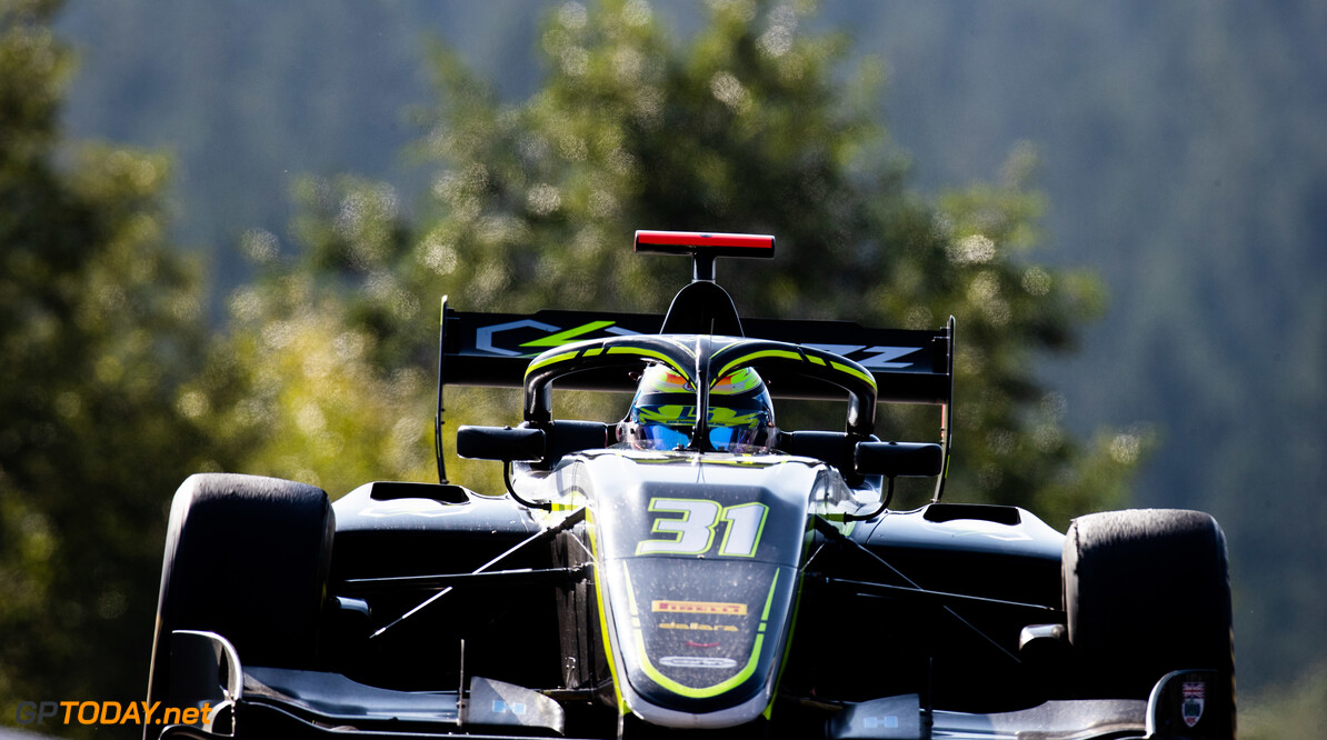 FIA Formula 3 SPA-FRANCORCHAMPS, BELGIUM - AUGUST 30: Logan Sargeant (USA, Carlin Buzz Racing) during the Spa-Francorchamps at Spa-Francorchamps on August 30, 2019 in Spa-Francorchamps, Belgium. (Photo by Joe Portlock / LAT Images / FIA F3 Championship) FIA Formula 3 Joe Portlock  Belgium  FIA Formula 3 F3 Formula 3 FIA F3