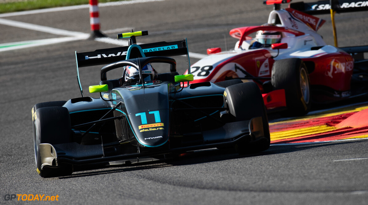 FIA Formula 3 SPA-FRANCORCHAMPS, BELGIUM - AUGUST 30: Jake Hughes (GBR, HWA RACELAB) during the Spa-Francorchamps at Spa-Francorchamps on August 30, 2019 in Spa-Francorchamps, Belgium. (Photo by Joe Portlock / LAT Images / FIA F3 Championship) FIA Formula 3 Joe Portlock  Belgium  FIA Formula 3 F3 Formula 3 FIA F3
