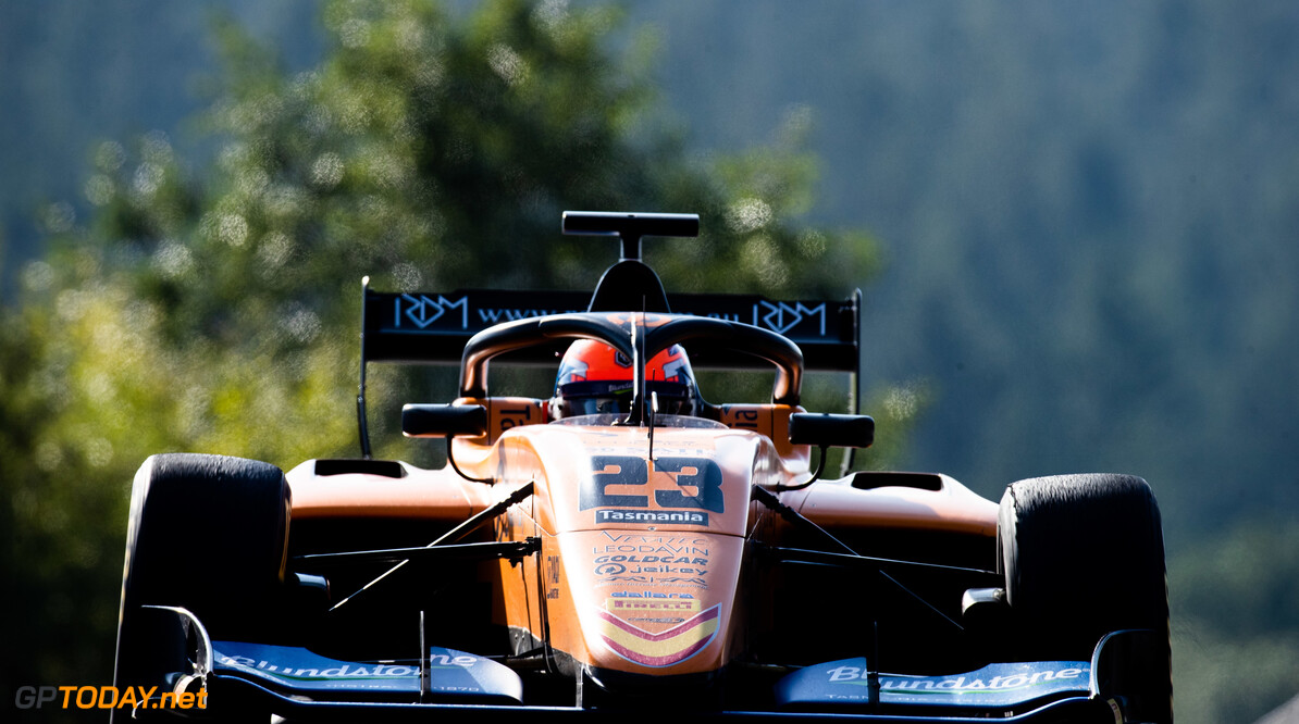 FIA Formula 3 SPA-FRANCORCHAMPS, BELGIUM - AUGUST 30: Alexander Peroni (AUS, Campos Racing) during the Spa-Francorchamps at Spa-Francorchamps on August 30, 2019 in Spa-Francorchamps, Belgium. (Photo by Joe Portlock / LAT Images / FIA F3 Championship) FIA Formula 3 Joe Portlock  Belgium  FIA Formula 3 F3 Formula 3 FIA F3