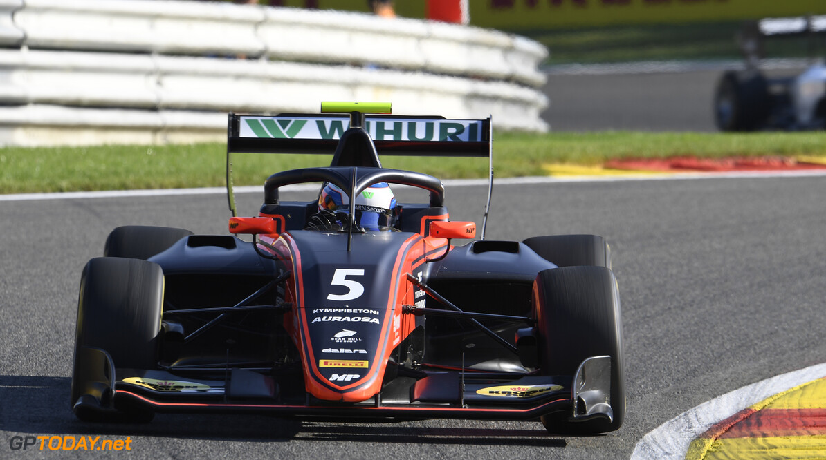 FIA Formula 3 SPA-FRANCORCHAMPS, BELGIUM - AUGUST 30: Simo Laaksonen (FIN, MP Motorsport) during the Spa-Francorchamps at Spa-Francorchamps on August 30, 2019 in Spa-Francorchamps, Belgium. (Photo by Gareth Harford / LAT Images / FIA F3 Championship) FIA Formula 3 Gareth Harford  Belgium  FIA Formula 3 F3 Formula 3 FIA F3