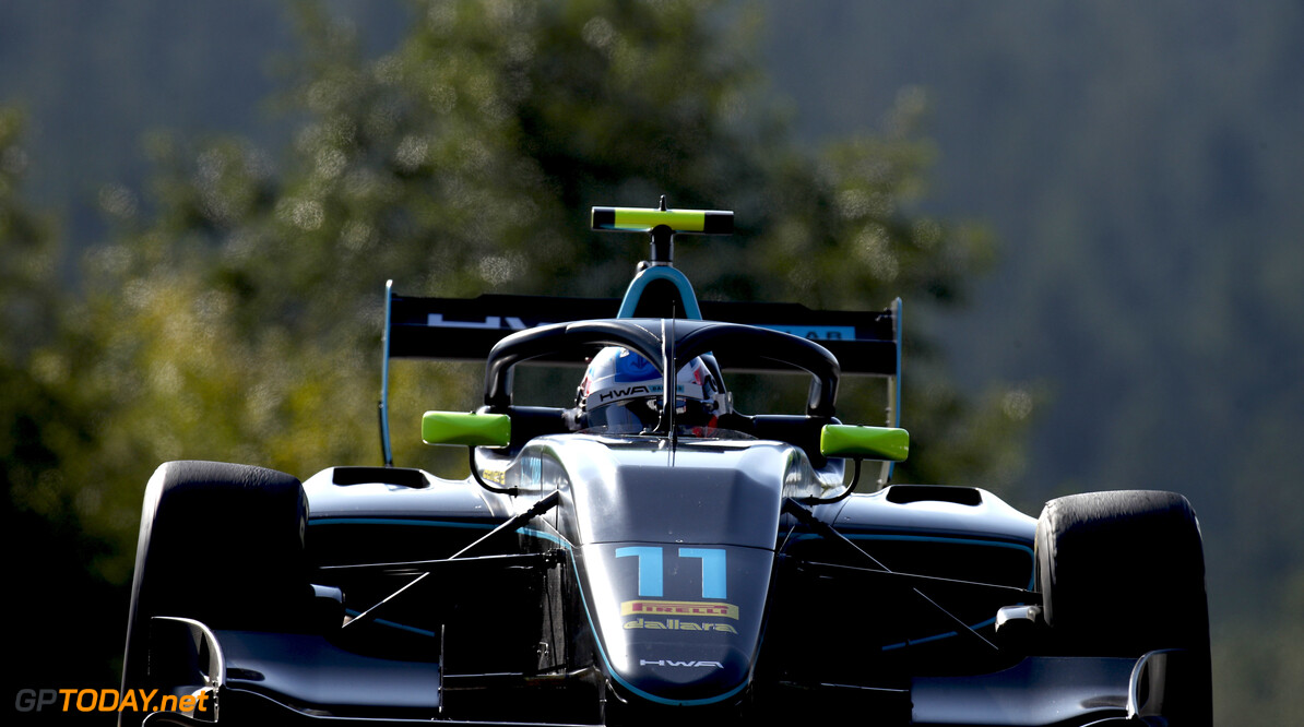 FIA Formula 3 SPA-FRANCORCHAMPS, BELGIUM - AUGUST 30: Jake Hughes (GBR) HWA RACELAB during the Spa-Francorchamps at Spa-Francorchamps on August 30, 2019 in Spa-Francorchamps, Belgium. (Photo by Joe Portlock / LAT Images / FIA F3 Championship) FIA Formula 3 Joe Portlock  Belgium  action ts-live F3 Formula 3 FIA F3