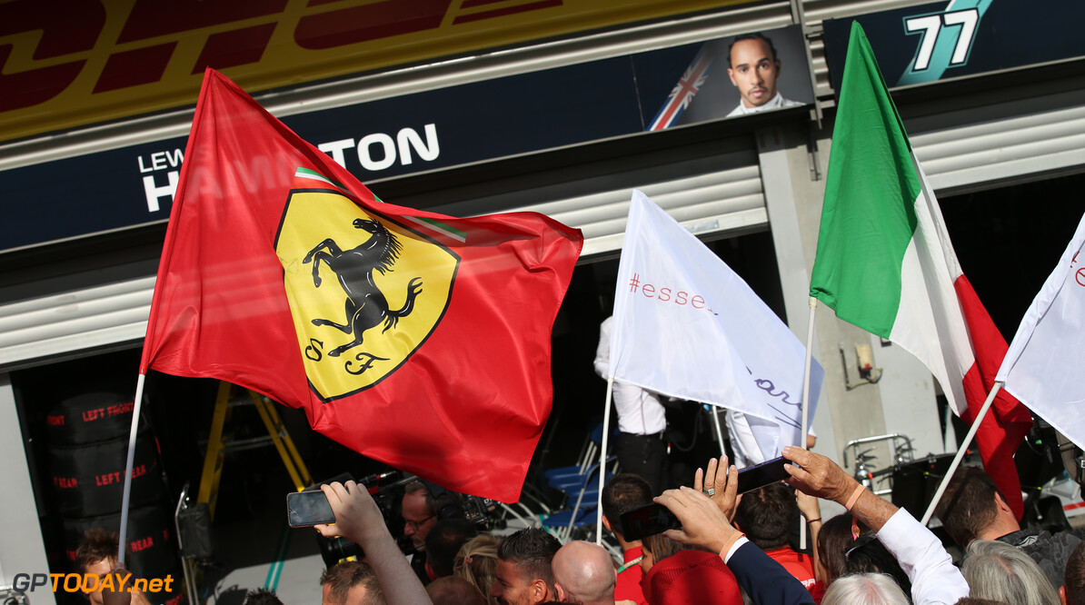 Formula One World Championship Ferrari and Italian flags. 01.09.2019. Formula 1 World Championship, Rd 13, Belgian Grand Prix, Spa Francorchamps, Belgium, Race Day. - www.xpbimages.com, EMail: requests@xpbimages.com - copy of publication required for printed pictures. Every used picture is fee-liable. (C) Copyright: Batchelor / XPB Images Motor Racing - Formula One World Championship - Belgian Grand Prix - Race Day - Spa Francorchamps, Belgium XPB Images Spa Francorchamps Belgium  Formel1 Formel F1 Formula 1 Formula1 GP Grand Prix one Circuit de Spa-Francorchamps Spa Francorchamps Belgium Belgian Sunday 01 1 09 9 2019 September Podium Portrait flag