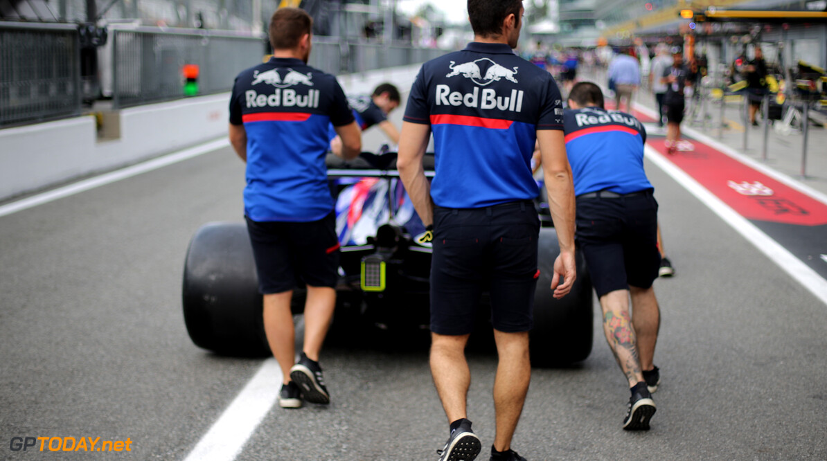 Formula One World Championship Scuderia Toro Rosso   05.09.2019. Formula 1 World Championship, Rd 14, Italian Grand Prix, Monza, Italy, Preparation Day. - www.xpbimages.com, EMail: requests@xpbimages.com - copy of publication required for printed pictures. Every used picture is fee-liable. (C) Copyright: Charniaux / XPB Images Motor Racing - Formula One World Championship - Italian Grand Prix - Preparation Day - Monza, Italy XPB Images Monza Italy  Formel1 Formel F1 Formula 1 Formula1 GP Grand Prix one Autodromo di Monza Thursday Portrait September 05 5 09 9 2019