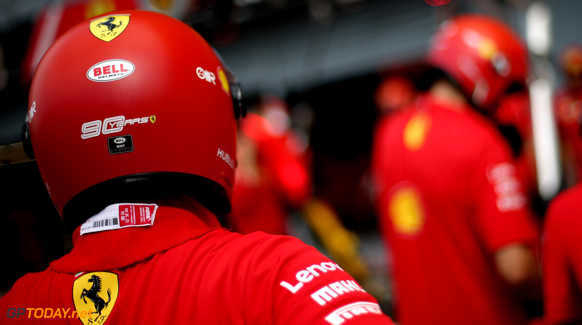 Formula One World Championship Scuderia Ferrari   05.09.2019. Formula 1 World Championship, Rd 14, Italian Grand Prix, Monza, Italy, Preparation Day. - www.xpbimages.com, EMail: requests@xpbimages.com - copy of publication required for printed pictures. Every used picture is fee-liable. (C) Copyright: Charniaux / XPB Images Motor Racing - Formula One World Championship - Italian Grand Prix - Preparation Day - Monza, Italy XPB Images Monza Italy  Formel1 Formel F1 Formula 1 Formula1 GP Grand Prix one Autodromo di Monza Thursday Portrait September 05 5 09 9 2019