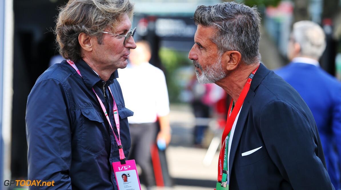 Guido Pozzi (ITA) with Enrico Zanarini (ITA) Driver Manager