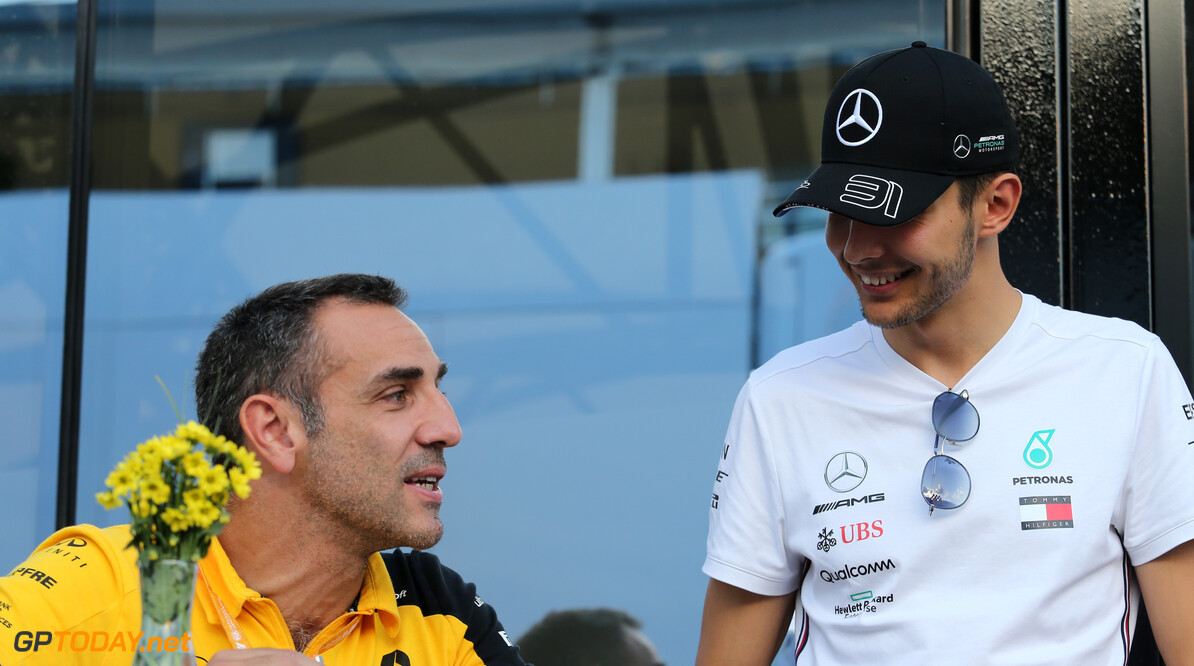 Formula One World Championship Cyril Abiteboul (FRA), Renault Sport F1 Managing Director and Esteban Ocon (FRA), Mercedes AMG F1  07.09.2019. Formula 1 World Championship, Rd 14, Italian Grand Prix, Monza, Italy, Qualifying Day. - www.xpbimages.com, EMail: requests@xpbimages.com - copy of publication required for printed pictures. Every used picture is fee-liable. (C) Copyright: Charniaux / XPB Images Motor Racing - Formula One World Championship - Italian Grand Prix - Qualifying Day - Monza, Italy XPB Images Monza Italy  Formel1 Formel F1 Formula 1 Formula1 GP Grand Prix one Autodromo di Monza September Saturday 07 7 09 9 2019 Practice Portrait