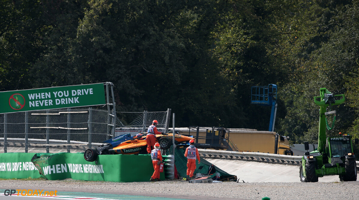 Peroni was knocked out in horror F3 crash