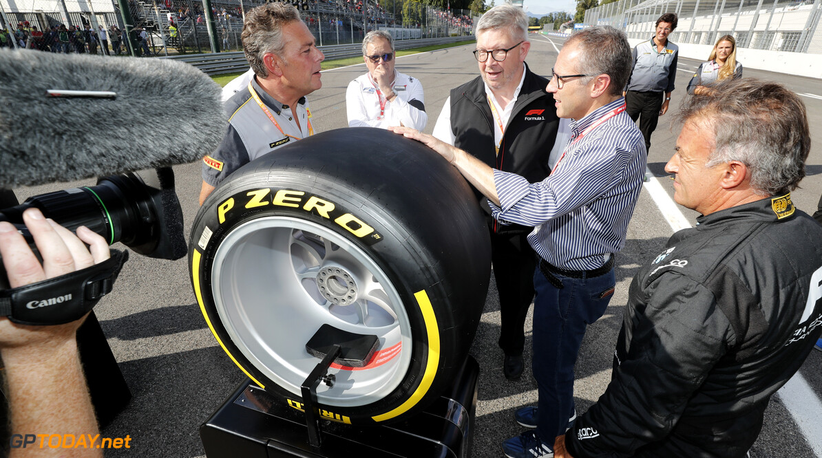 FIA Formula 2 AUTODROMO NAZIONALE MONZA, ITALY - SEPTEMBER 07: Jean Alesi tests the new Pirelli 18 inch tyres for next seasons F2 Car during the Monza at Autodromo Nazionale Monza on September 07, 2019 in Autodromo Nazionale Monza, Italy. (Photo by Steven Tee / LAT Images / FIA F2 Championship) FIA Formula 2 Steven Tee  Italy  Pirelli