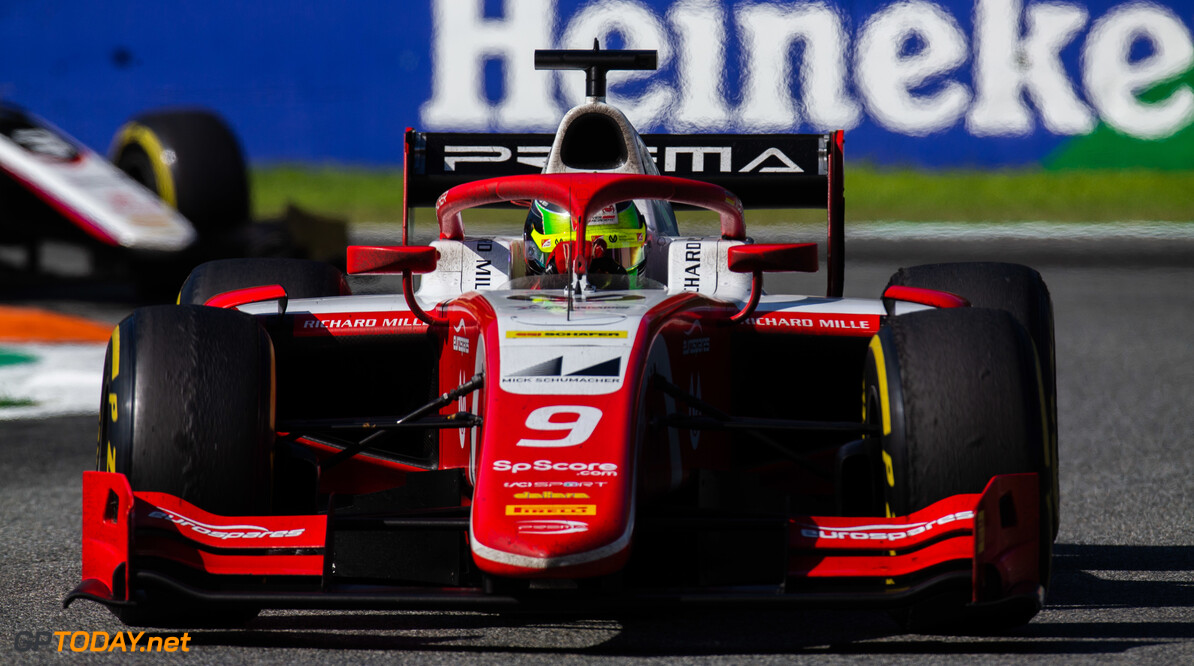 FIA Formula 2 AUTODROMO NAZIONALE MONZA, ITALY - SEPTEMBER 08: Mick Schumacher (DEU, PREMA RACING) during the Monza at Autodromo Nazionale Monza on September 08, 2019 in Autodromo Nazionale Monza, Italy. (Photo by Joe Portlock / LAT Images / FIA F2 Championship) FIA Formula 2 Joe Portlock  Italy  FIA Formula 2