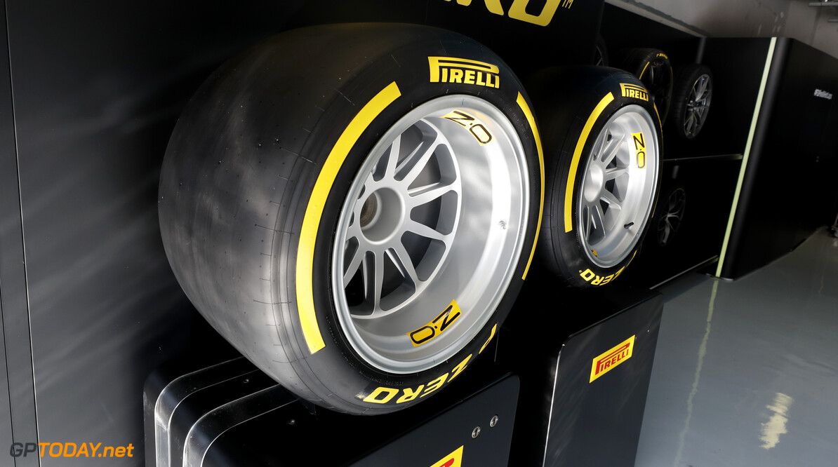 FIA Formula 2 AUTODROMO NAZIONALE MONZA, ITALY - SEPTEMBER 07: New 18 inch Pirelli tyers for 2010 during the Monza at Autodromo Nazionale Monza on September 07, 2019 in Autodromo Nazionale Monza, Italy. (Photo by Steven Tee / LAT Images / FIA F2 Championship) FIA Formula 2 Steven Tee  Italy  Pirelli