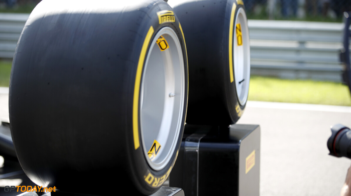 FIA Formula 2 AUTODROMO NAZIONALE MONZA, ITALY - SEPTEMBER 07: Jean Alesi tests the new Pirelli 18 inch tyres for next seasons F2 Car during the Monza at Autodromo Nazionale Monza on September 07, 2019 in Autodromo Nazionale Monza, Italy. (Photo by Joe Portlock / LAT Images / FIA F2 Championship) FIA Formula 2 Joe Portlock  Italy  Pirelli
