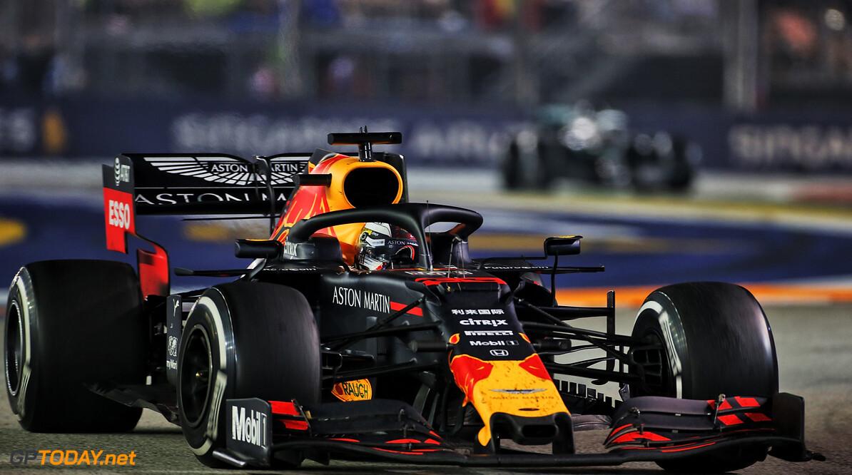 """Verstappen geniet: """"Blij om op het podium te staan door goede strategie"""""""
