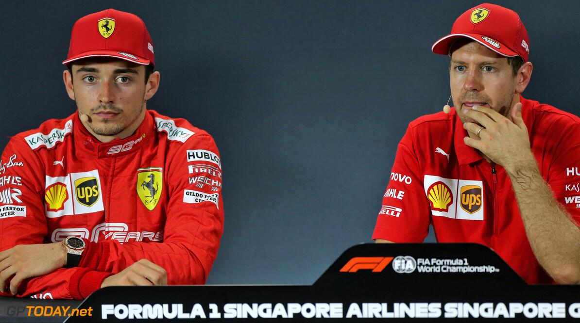 Ferrari ontkent gespannen verstandhouding tussen Vettel en Leclerc